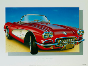 60 CORVETTE SCREENLESS LITHOGRAPH