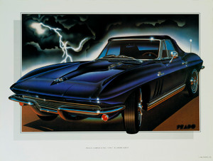 65 CORVETTE SCREENLESS LITHOGRAPH