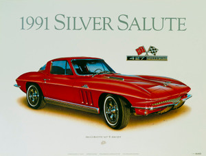 66 CORVETTE SCREENLESS LITHOGRAPH