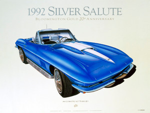 67 CORVETTE SCREENLESS LITHOGRAPH