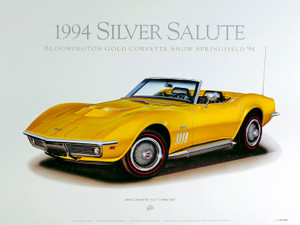 69 CORVETTE SCREENLESS LITHOGRAPH