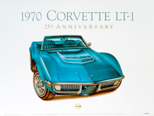 70 CORVETTE SCREENLESS LITHOGRAPH