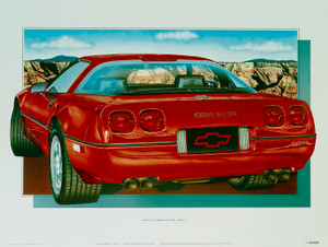 90 CORVETTE 'ZR-1' SCREENLESS LITHOGRAPH