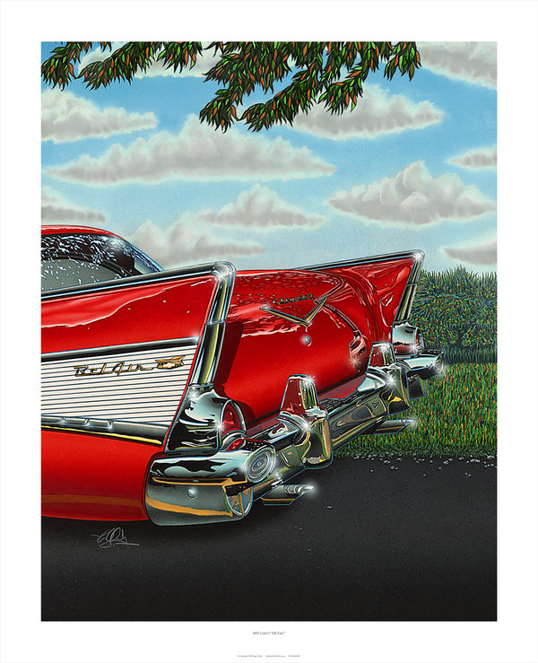 1957 CHEVY 'DE-TAIL' GICLEE