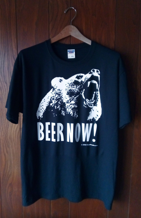 BEER NOW! T-SHIRT (BLACK)