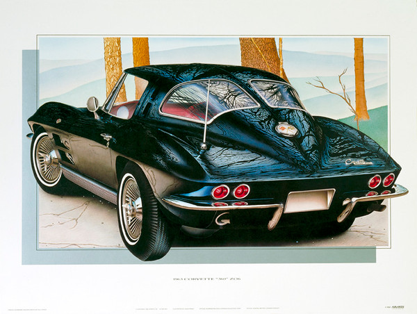 63 CORVETTE 'Z06' SCREENLESS LITHOGRAPH
