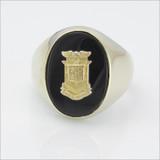 ΔΚΕ Oval Black Onyx Crest Ring