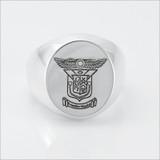 ΔΚΕ Incised Coat of Arms Ring