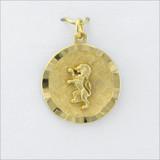ΔΚΕ Round Ribbon Charm with Rampant Lion