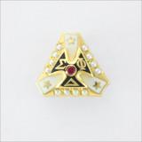 ΣΦΔ Crown Set Pearl Badge