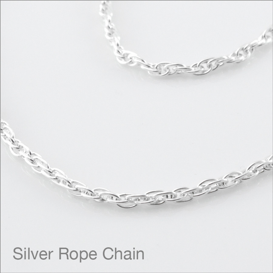 Silver Rope Chain Detail
