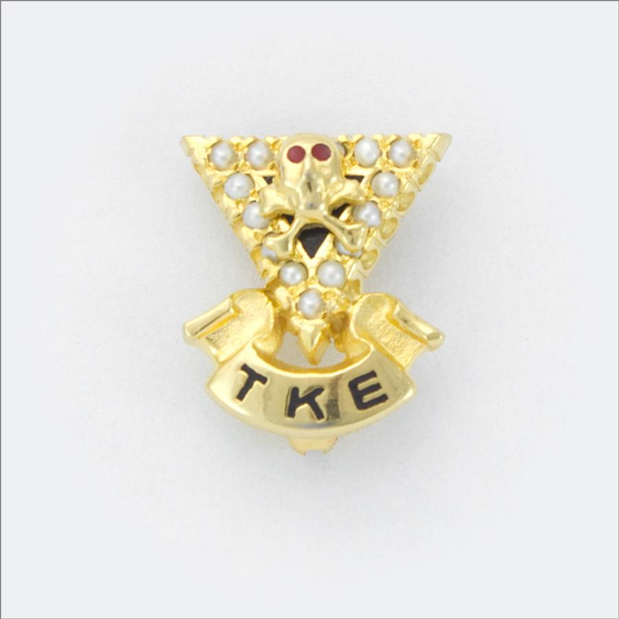 TKE Crown Pearl Sweetheart Badge