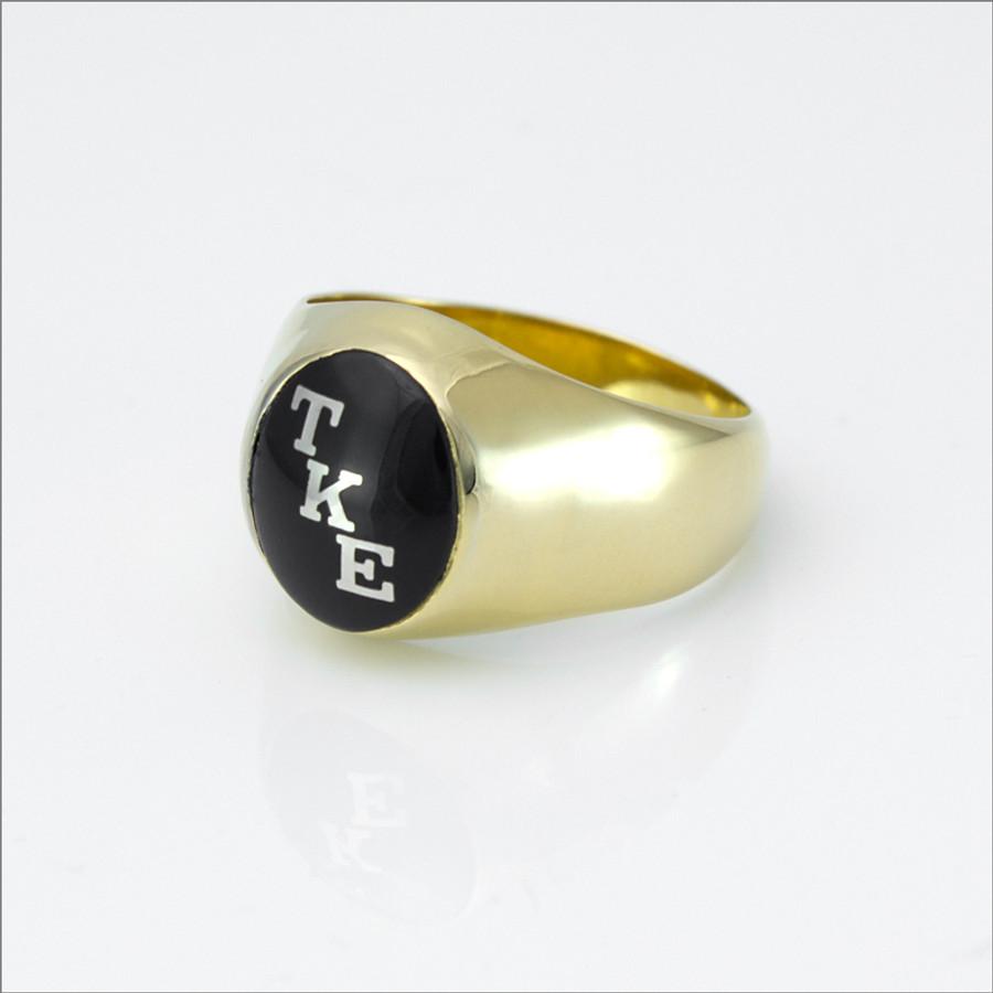 TKE Encrusted Onyx Ring