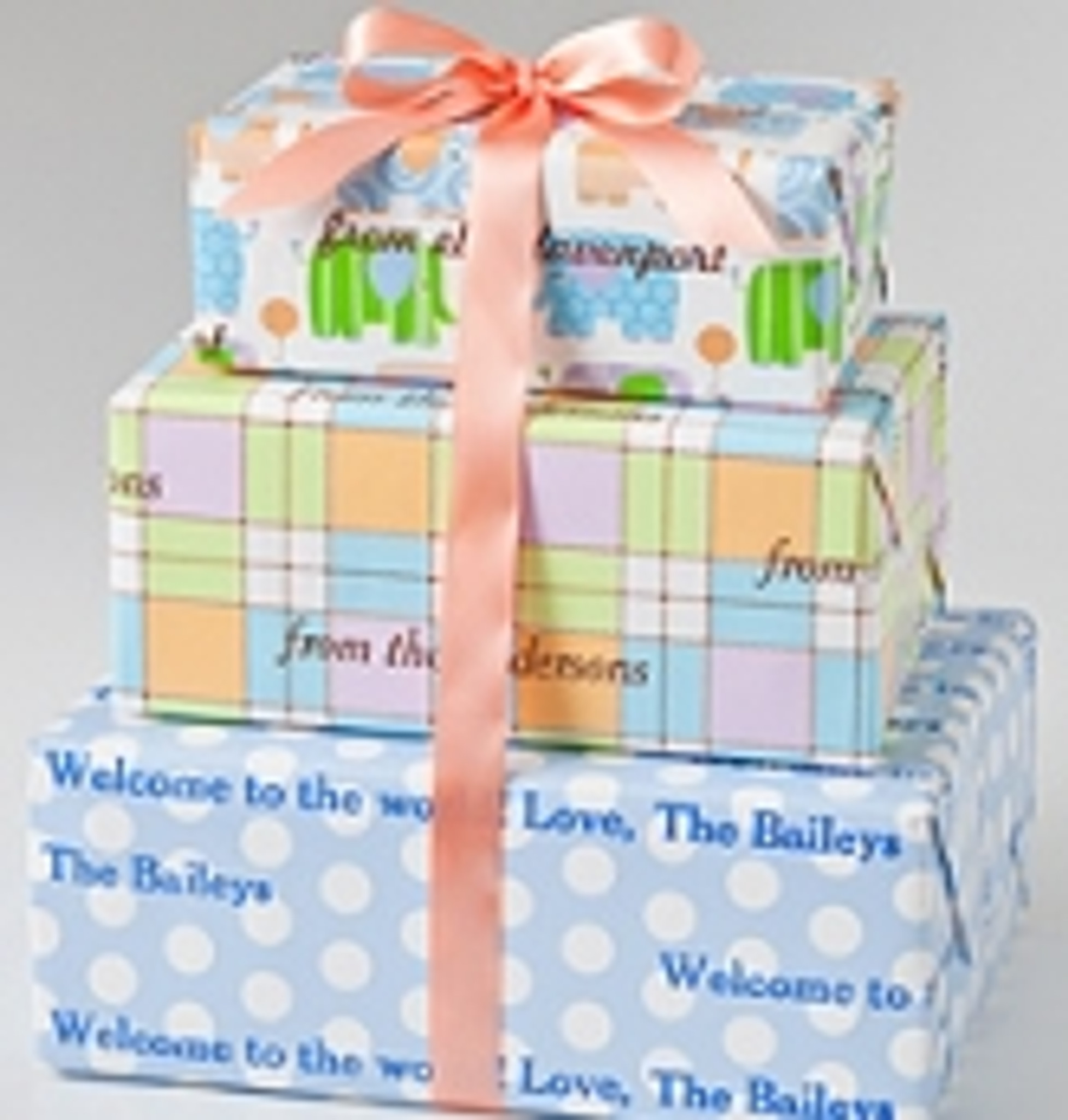 Personalized Gift Wrap - Baby