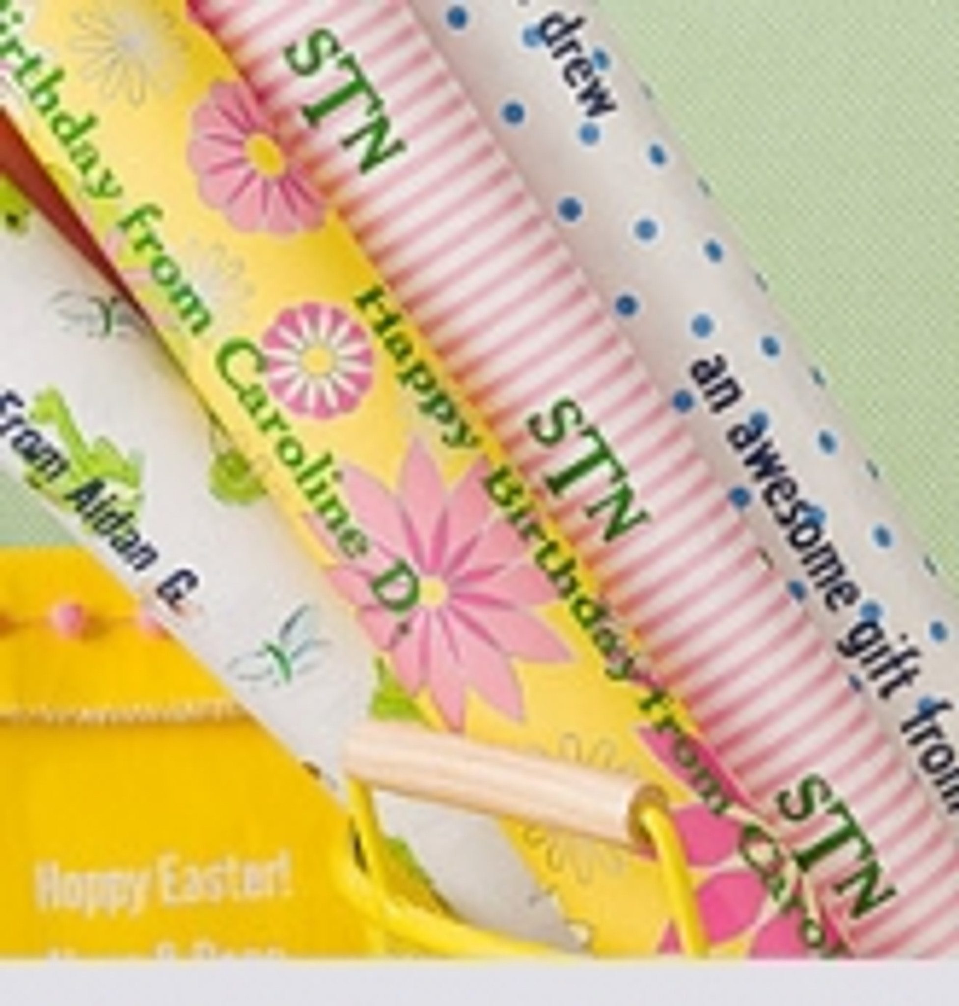 Personalized Gift Wrap - Easter