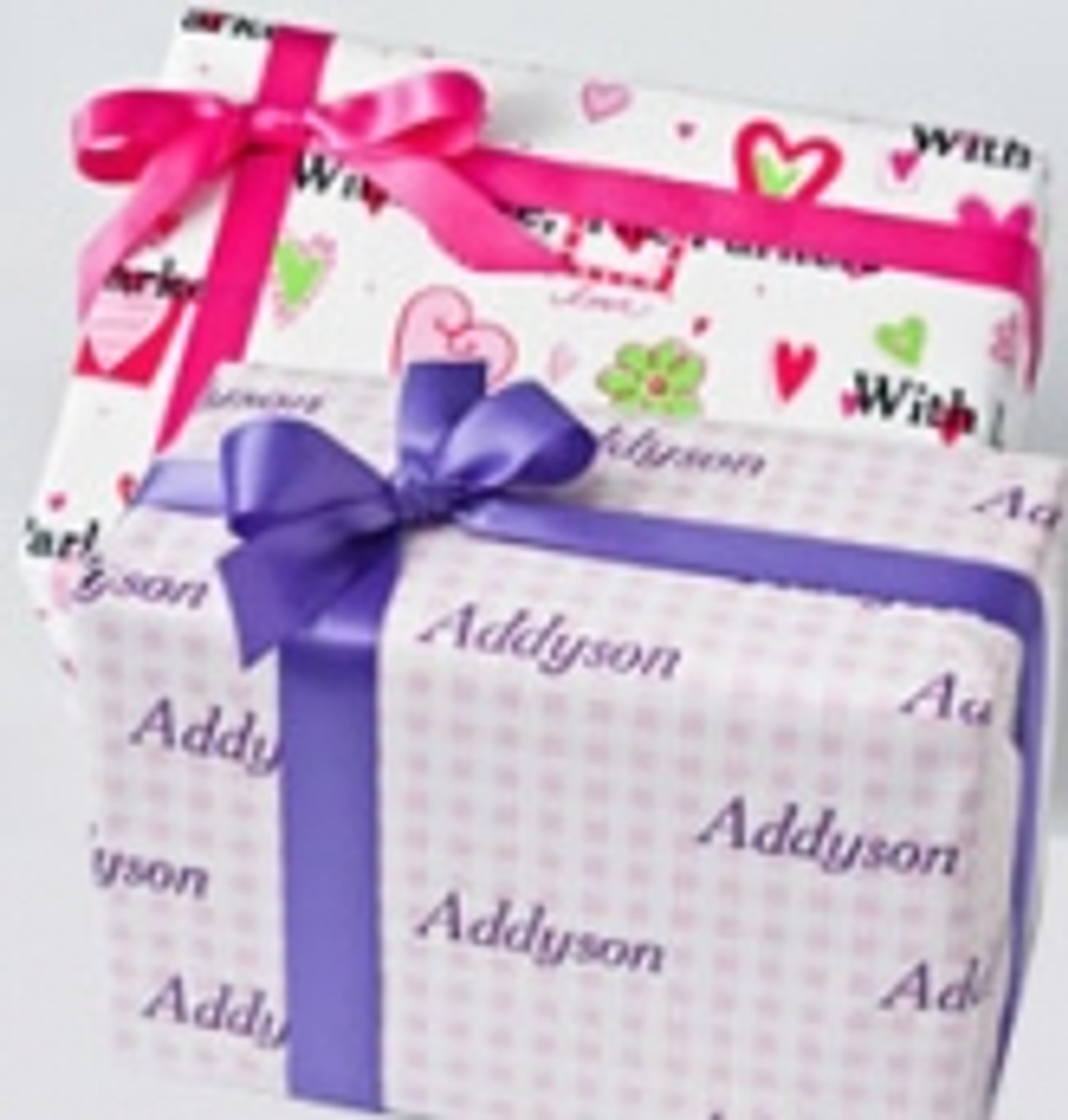 Personalized Gift Wrap - Valentine's Day