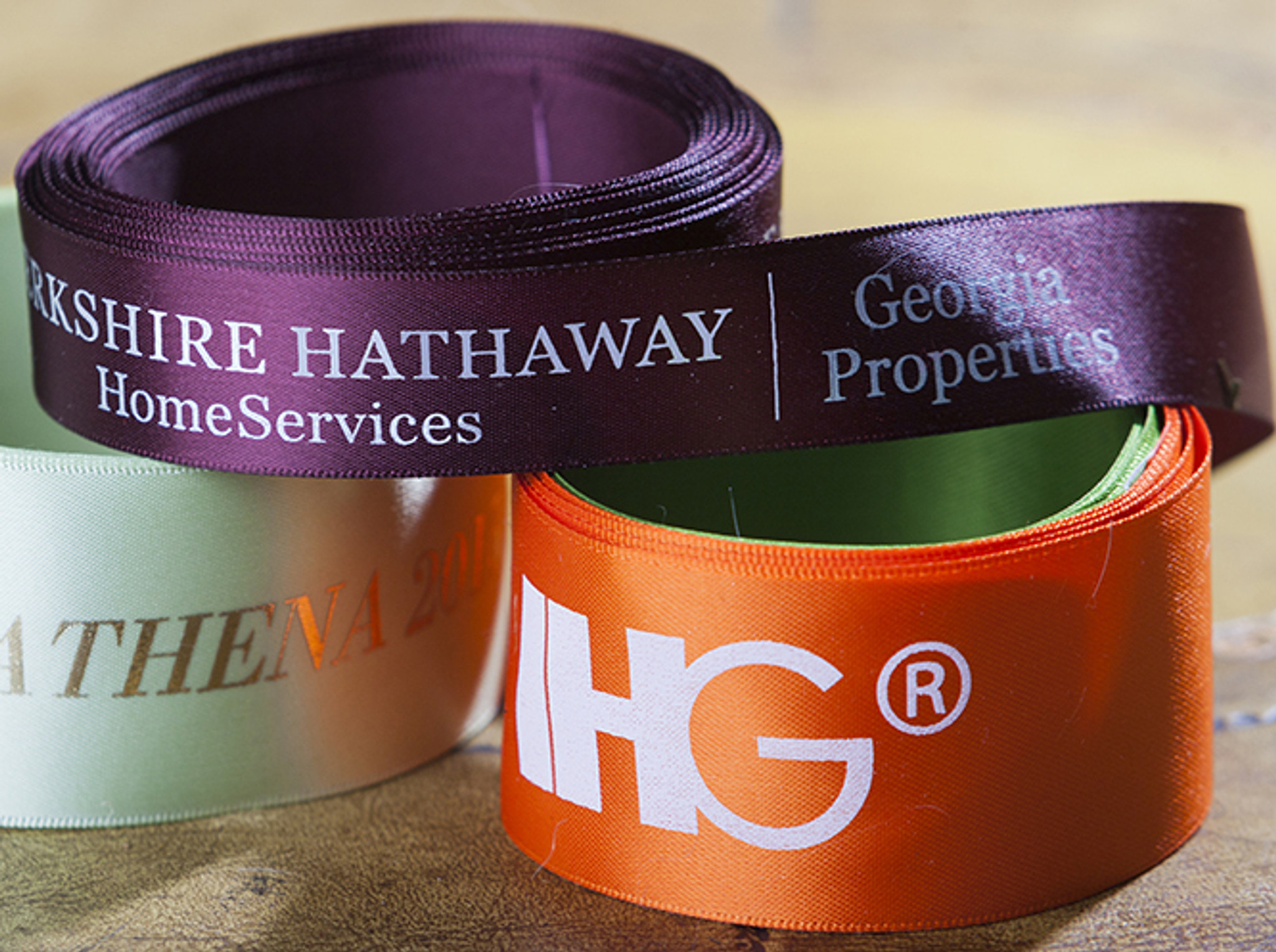 Personalized and Custom Logo Event Ribbon