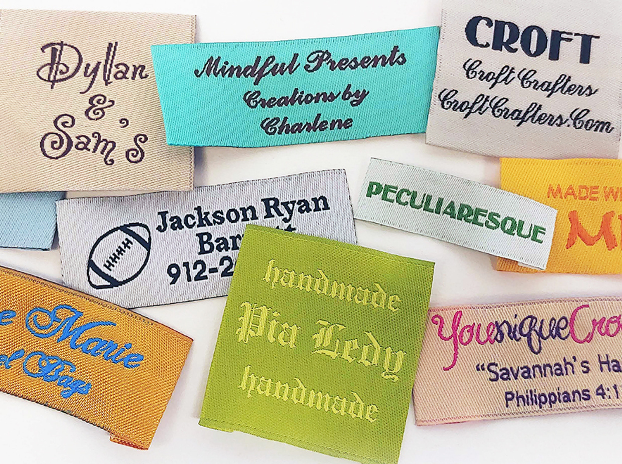 Personalized Fabric Clothing Labels - 50+ Labels