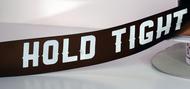 "1 1/2"" Custom Logo Satin Ribbon with White Print"