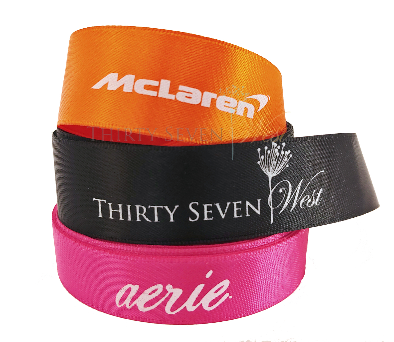 Custom Branding Ribbon with White Logo