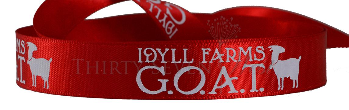 Red Ribbon with Company Logo, Branding  Ribbon, Ribbon for Events, Custom Printing Ribbon, Branded Ribbon