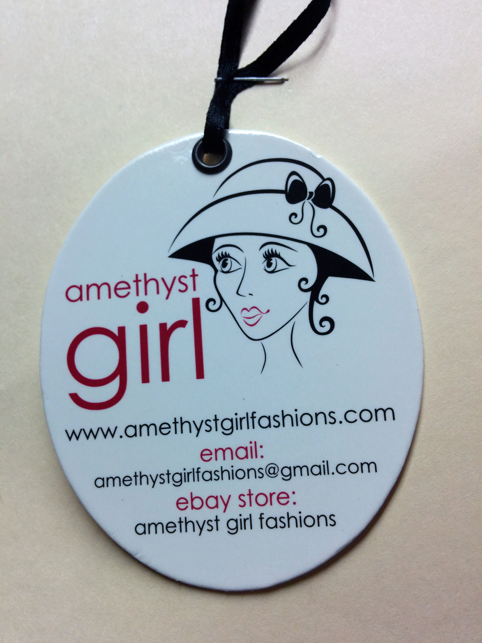 Custom Printed Hangtag with Gloss Coating Finsih