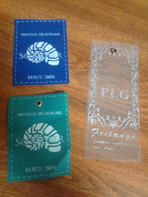 Custom Printed Hangtags on Cloth and Sheer Fabric