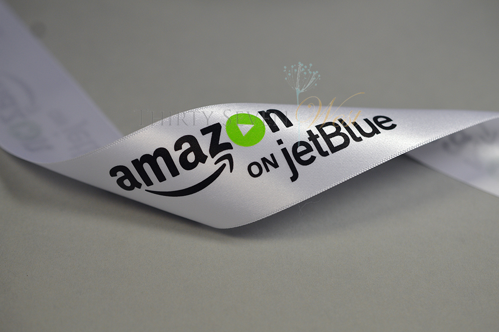 Amazon on jetBlue, Pantone Matched Ribbon , Printed Ribbon
