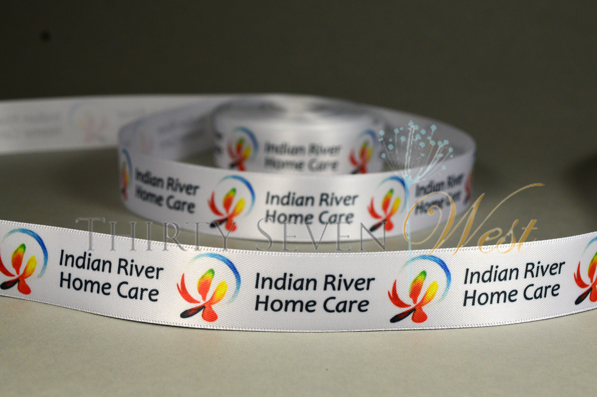 Custom Printed Ribbon, PMS Ribbon, Satin Logo RIbbon, Branded Ribbon