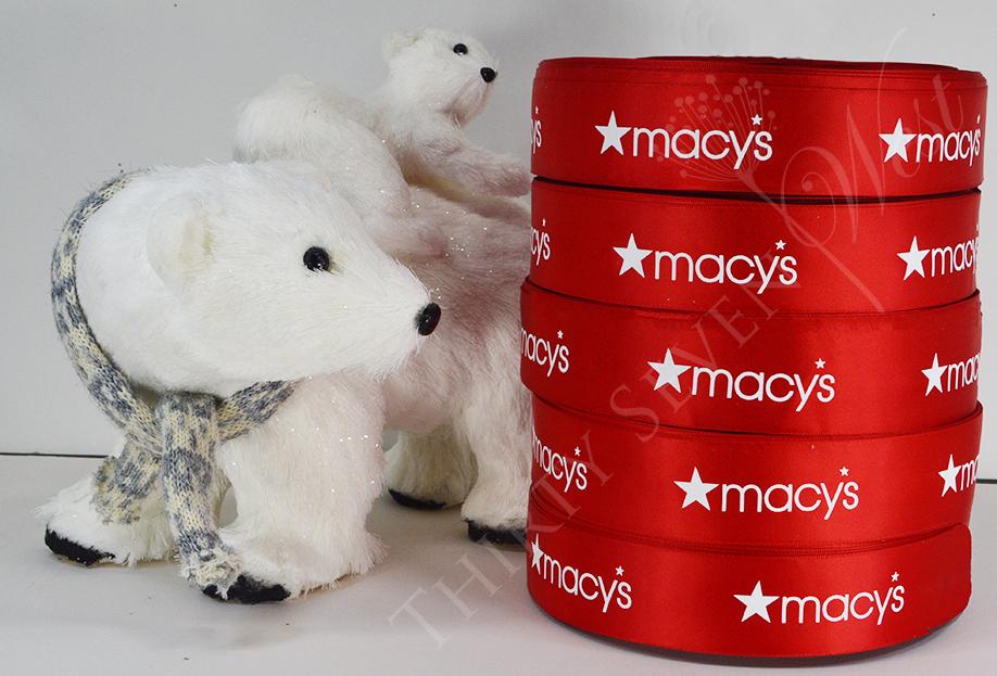 Pantone Color Ribbon, PMS Ribbon, Corporate Logo Ribbon, White print on Red Ribbon, Red Ribbon Printing for Holidays