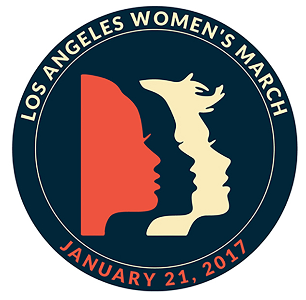 LOS ANGELES WOMEN'S MARCH JANUARY 21, 2017 ROUND 2 1/2""