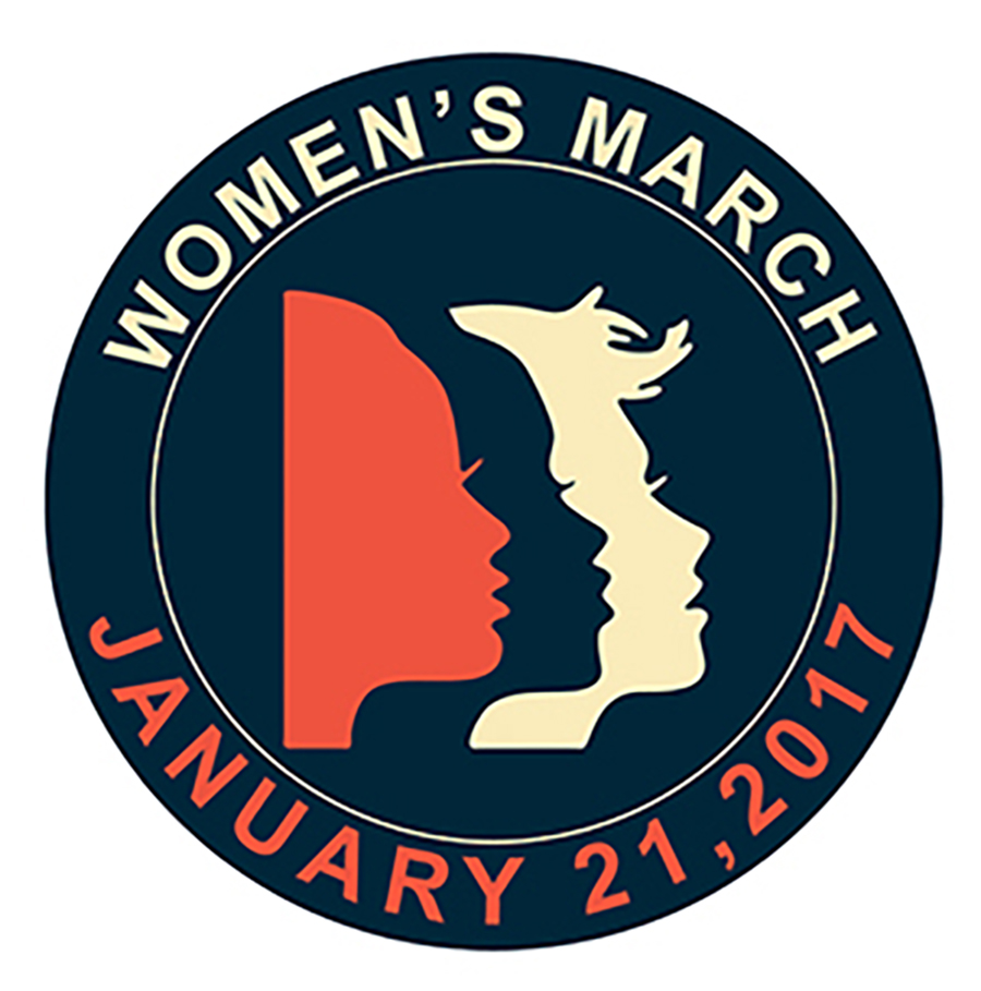 Women's March 2017 Round Patch with Faces - 10 Patches or Less