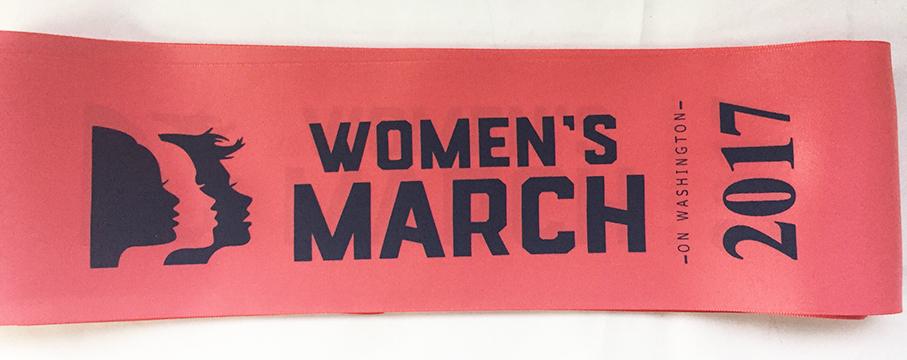 Women's March on Washington 2017 Sash  Women in Philadelphia started ordering these sashes