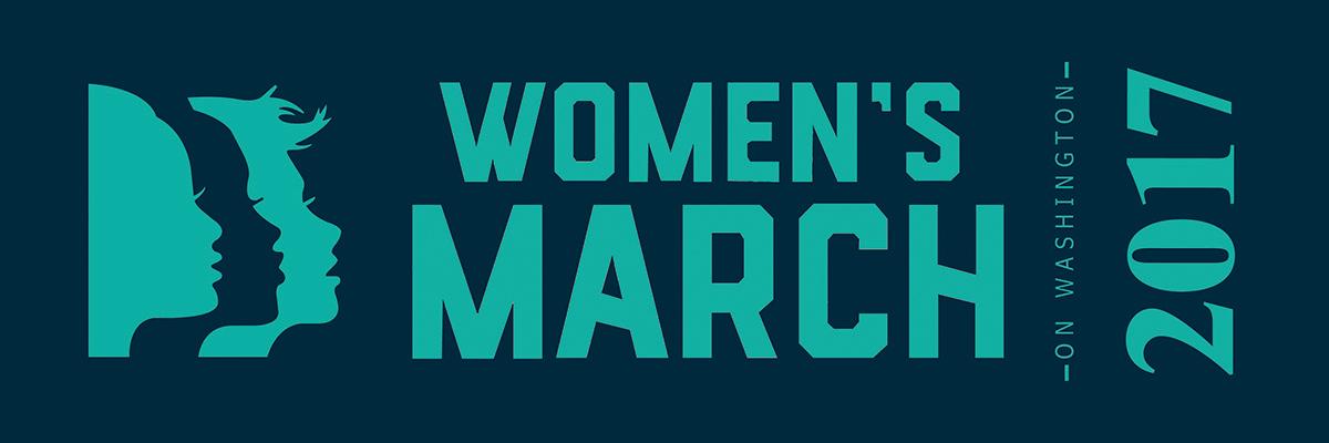 Women's March on Washington Ribbon for Sashes - Green Print on Navy Ribbon