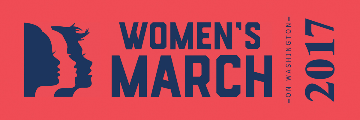Women's March on Washington 2017 Sashes - Salmon color Ribbon with navy print - CUSTOM ORDER MINIMUM OF 100 YDS, SEE LINK BELOW