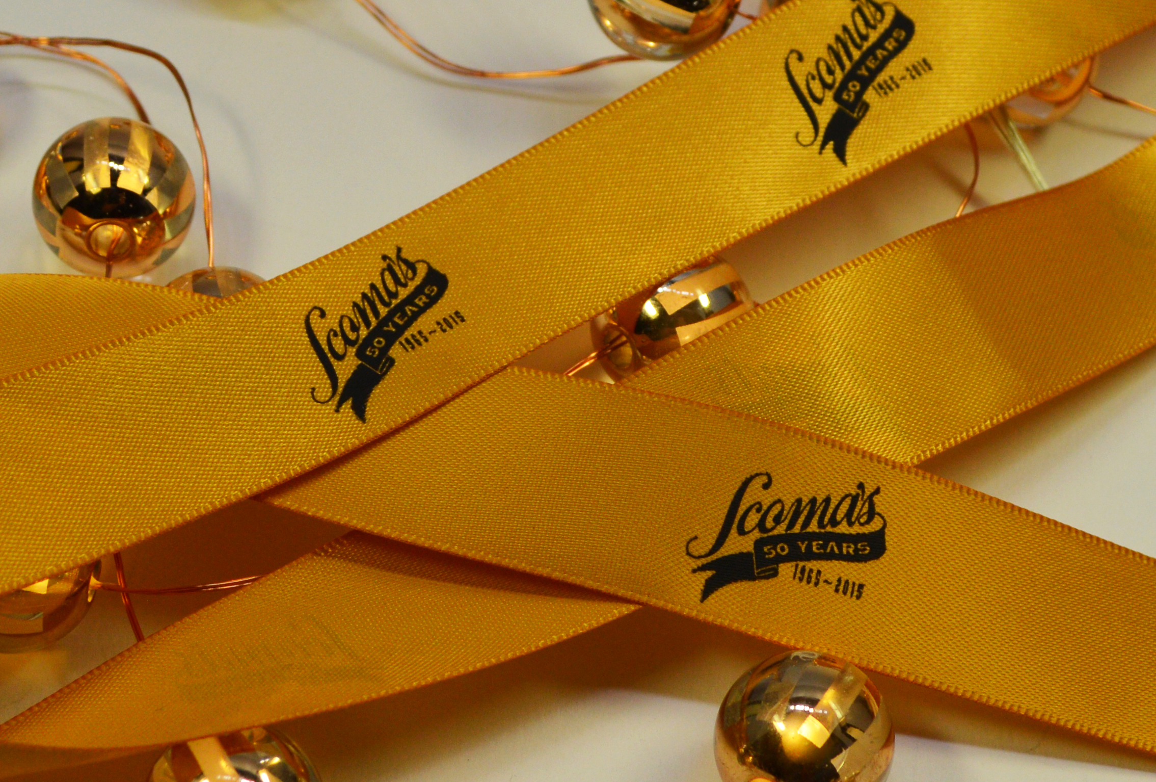 Yellow Ribbon with Black Print, Custom logo Ribbon, Printed Ribbon, Branding Ribbon