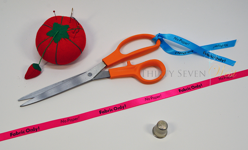 Sewing Room Ideas Fabric Only ribbon for scissors