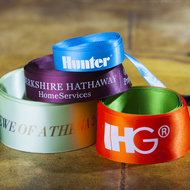 Satin Ribbon printed with corporate logo