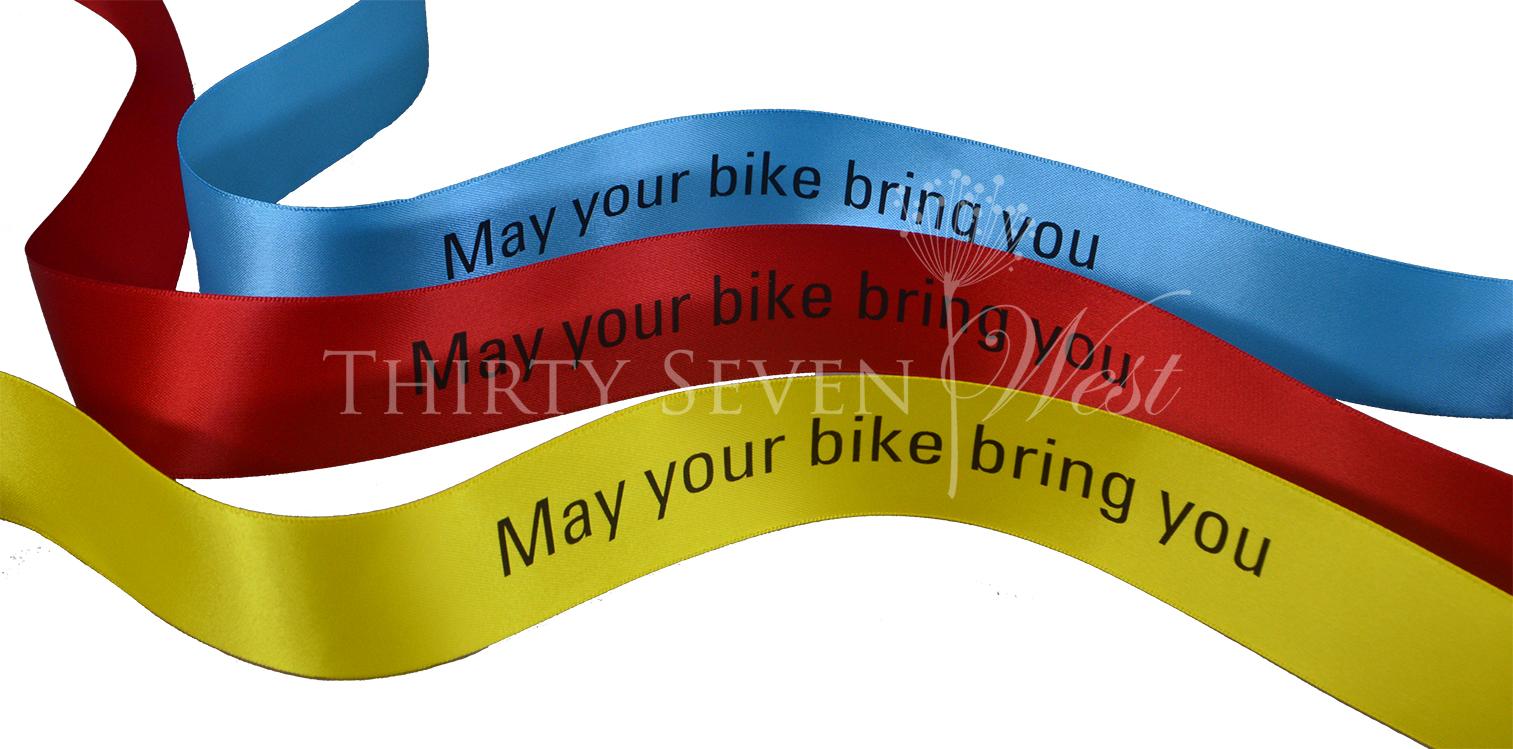 Black Print on Ribbon, Red Color Ribbon, Blue Color Ribbon, Yellow Color Ribbon, Satin Ribbon, Satin Logo Ribbon, Custom Logo RIbbon, Branded Ribbon, Printed Logo Ribbon, Ribbon with logo