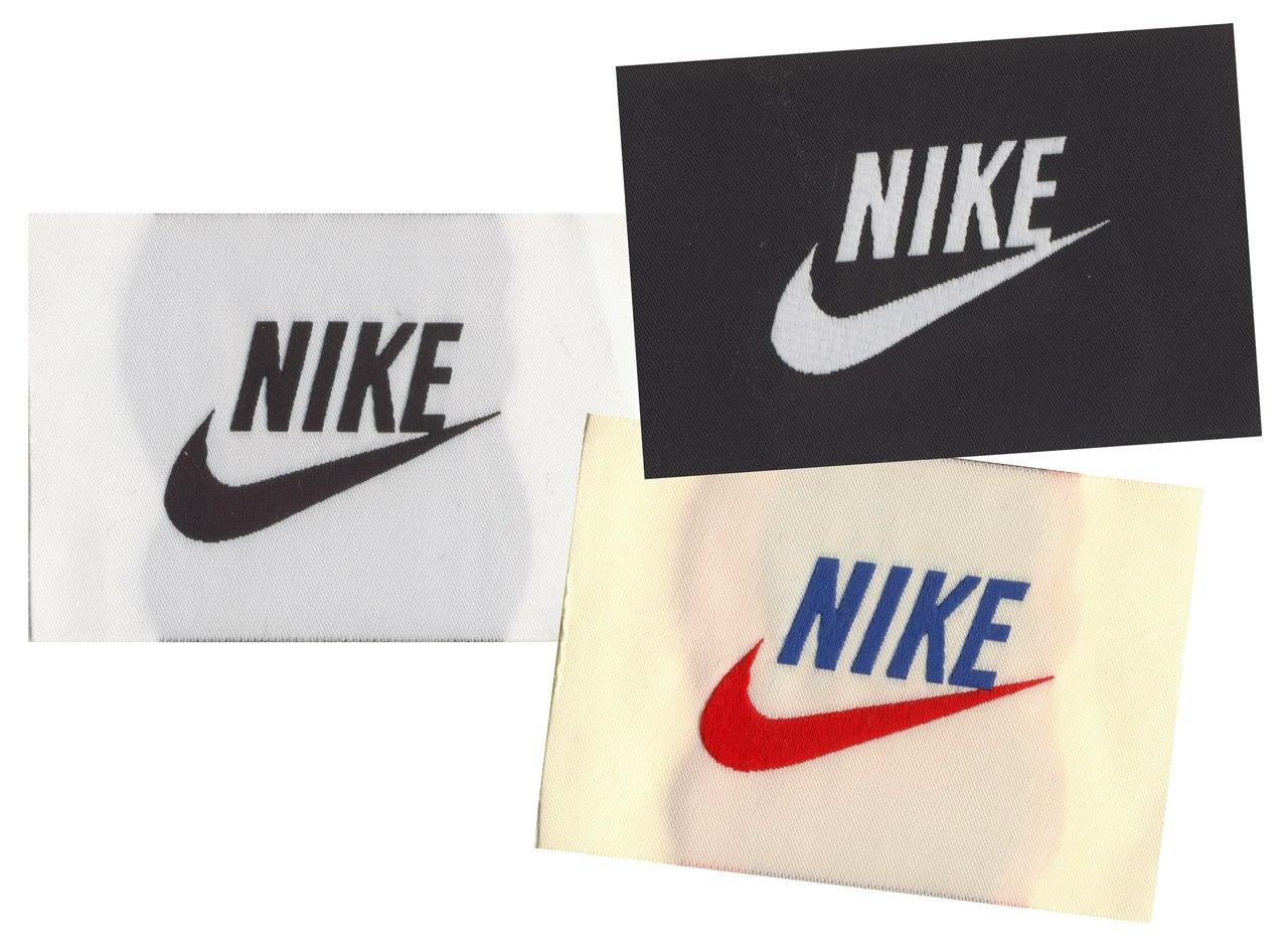 Etiquetas tejidas personalizadas de Nike