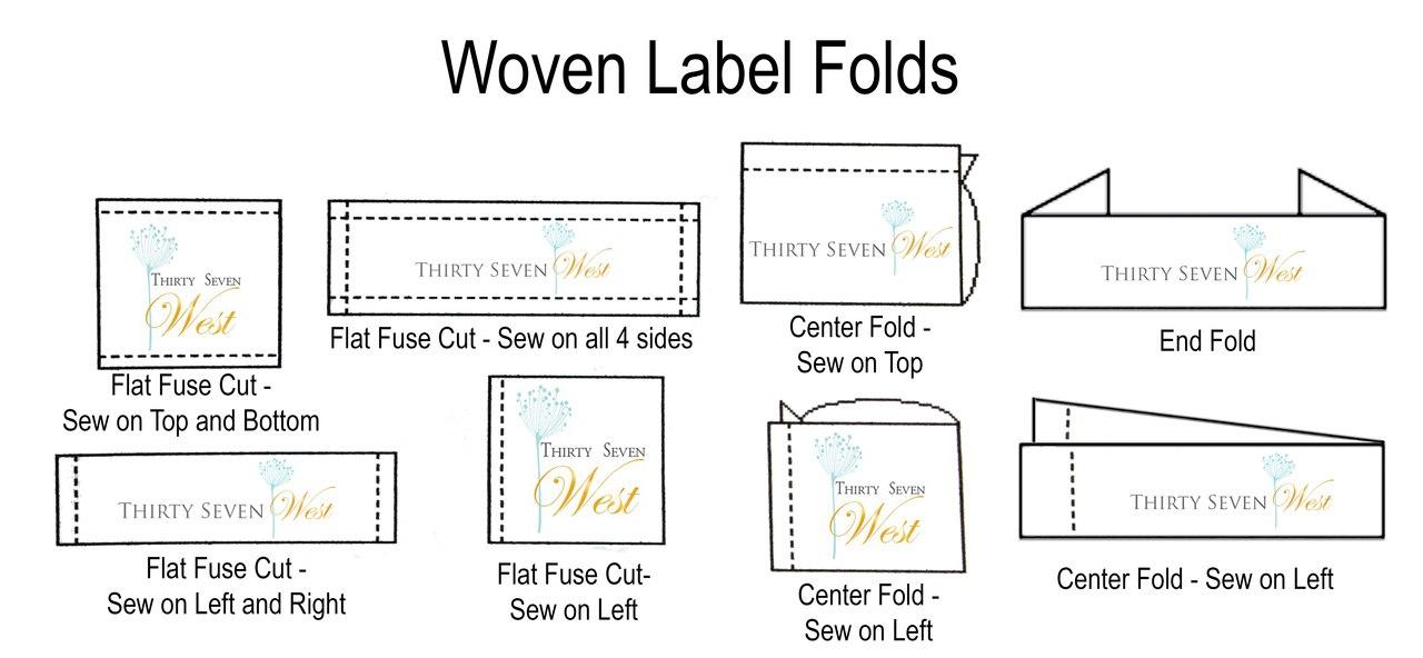 Tipos de pliegues o acabados para etiquetas tejidas personalizadas