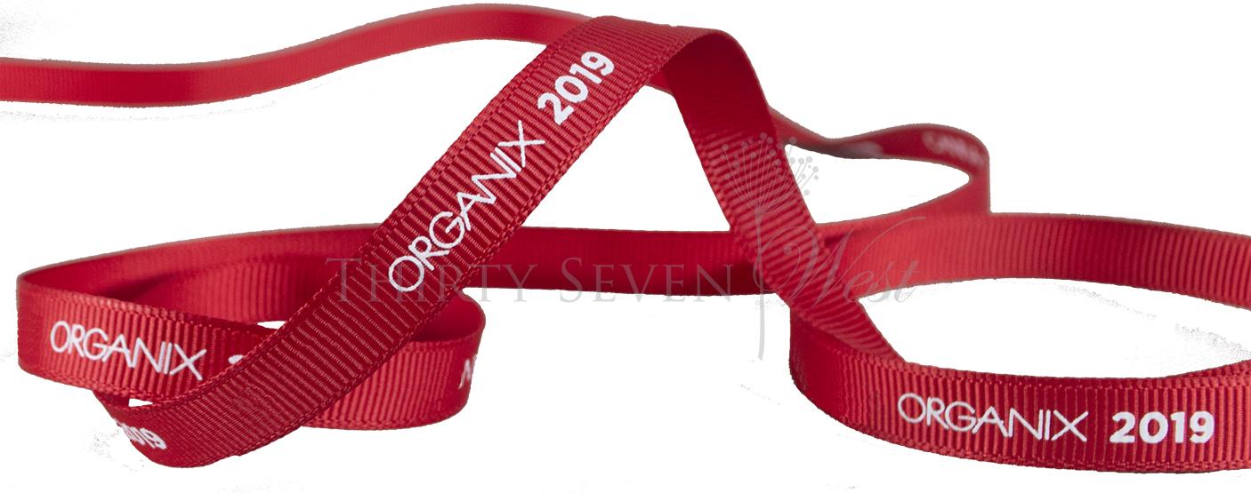 Grosgrain Ribbon, Red Grosgrain Ribbon, Custom Logo ribbon, Logo Ribbon, Branded Ribbon, Pantone Matching Ribbon, Ribbon with logo, Printed Logo Ribbon, Logo Branded Ribbon