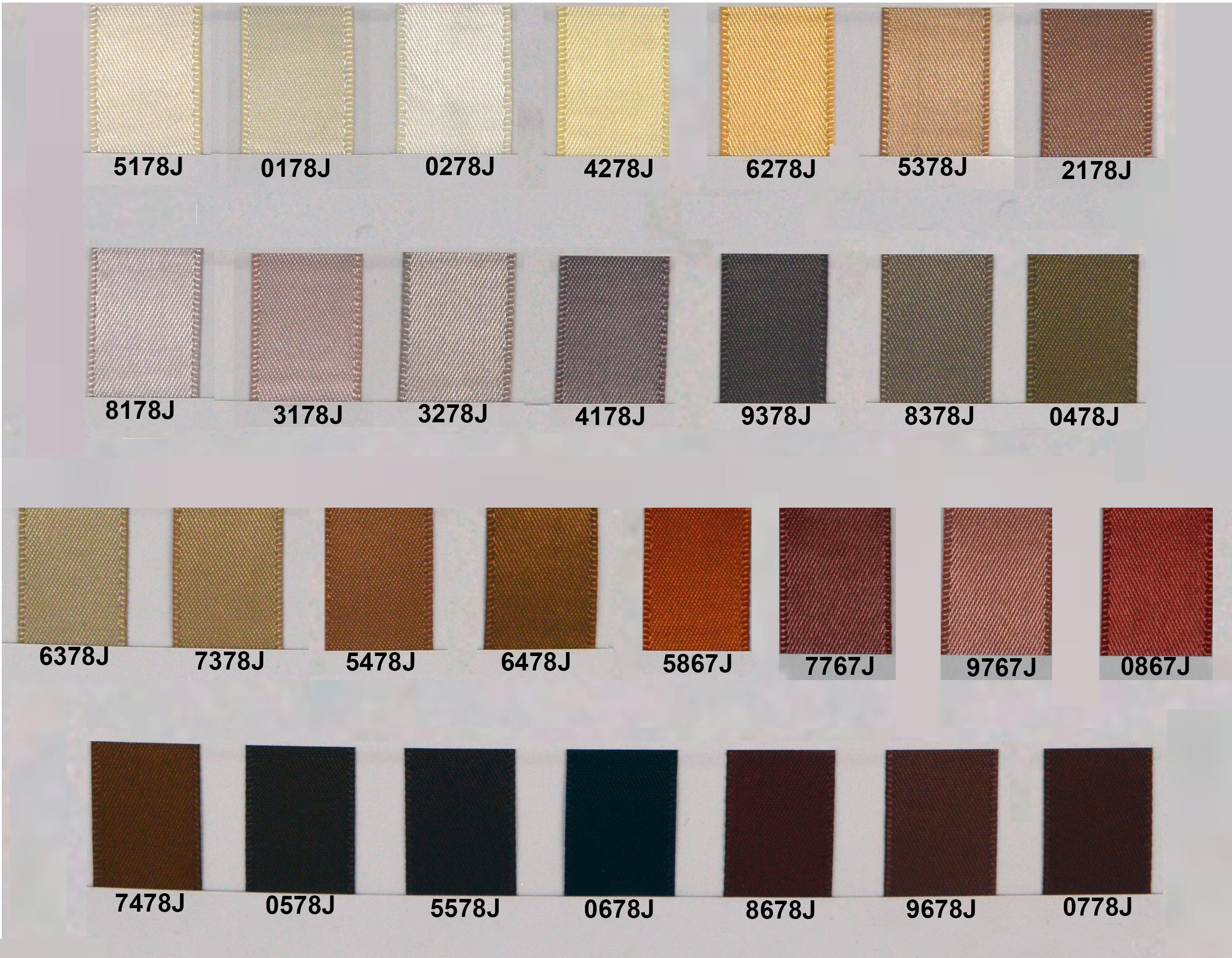 Plain Satin Ribbon - Brown