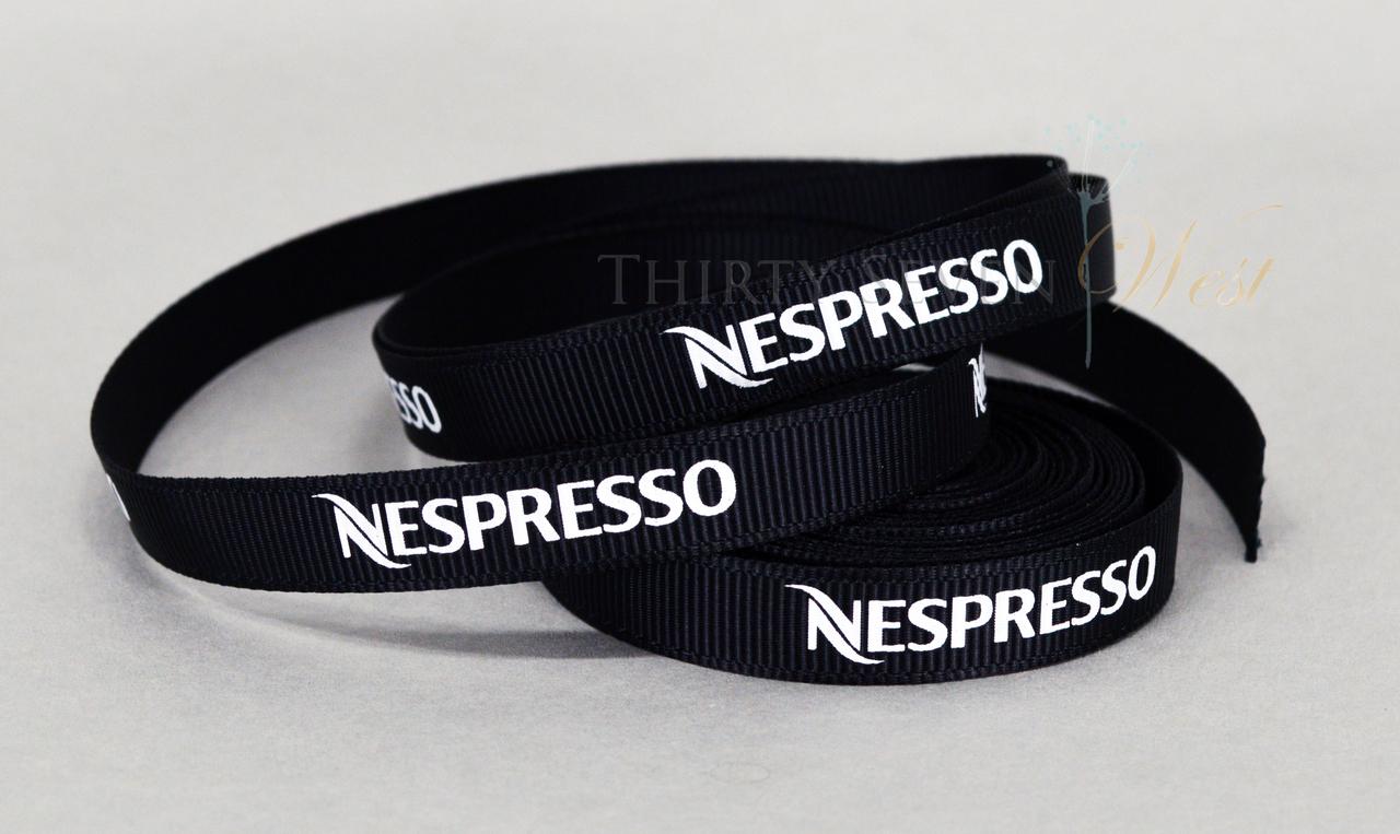 Cinta Nespresso Acanalada con impresión permanente y lavable.