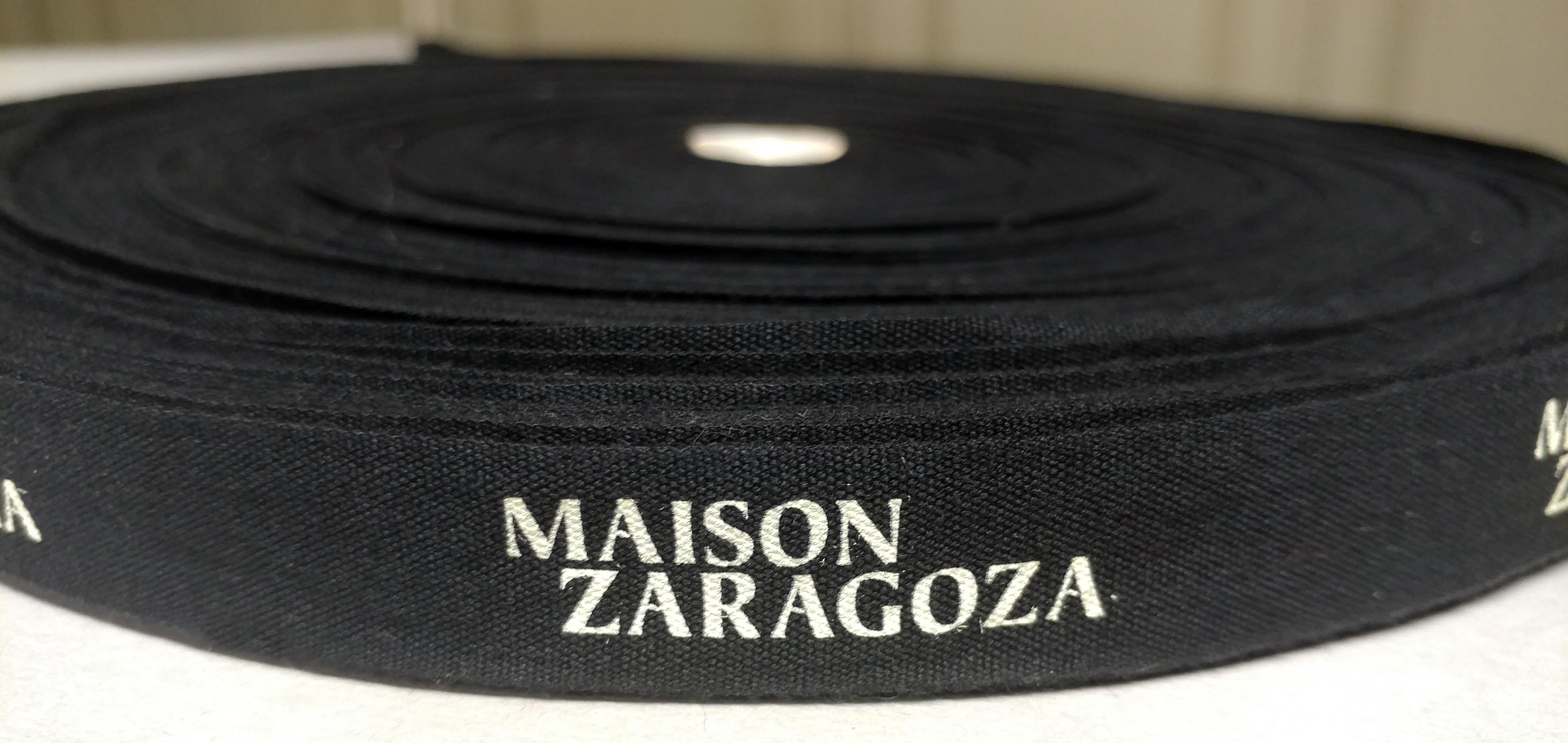 Custom Logo Cotton Ribbon with Pantone Color Print, Two Color Print, and Multi Color Print