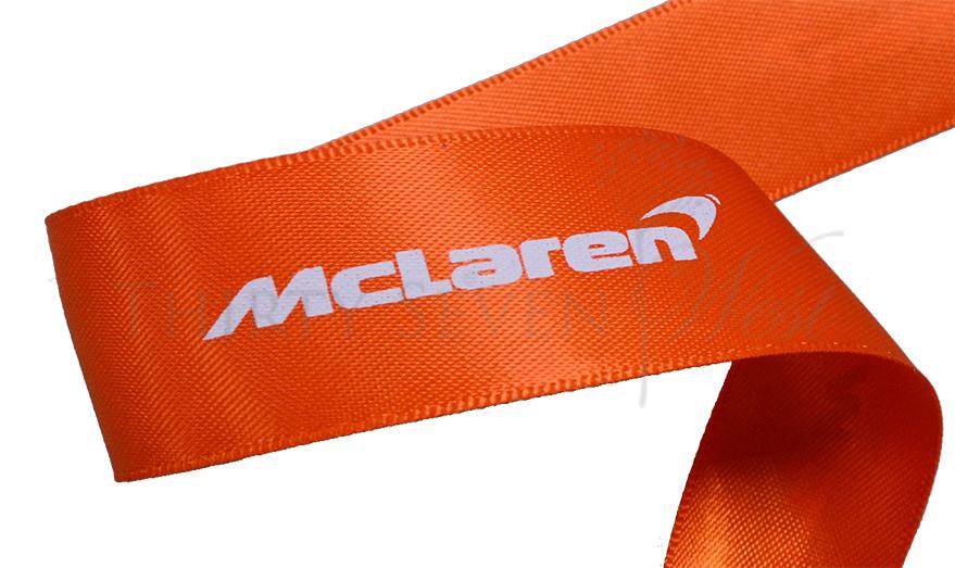 New Pantone Color Ribbon, PMS Ribbon, Company Logo Ribbon, Branded Ribbon, Satin Logo Ribbon,  Promotional Ribbon, Orange Ribbon.