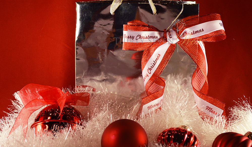 Personalized printed satin ribbon for embellishing gift bags