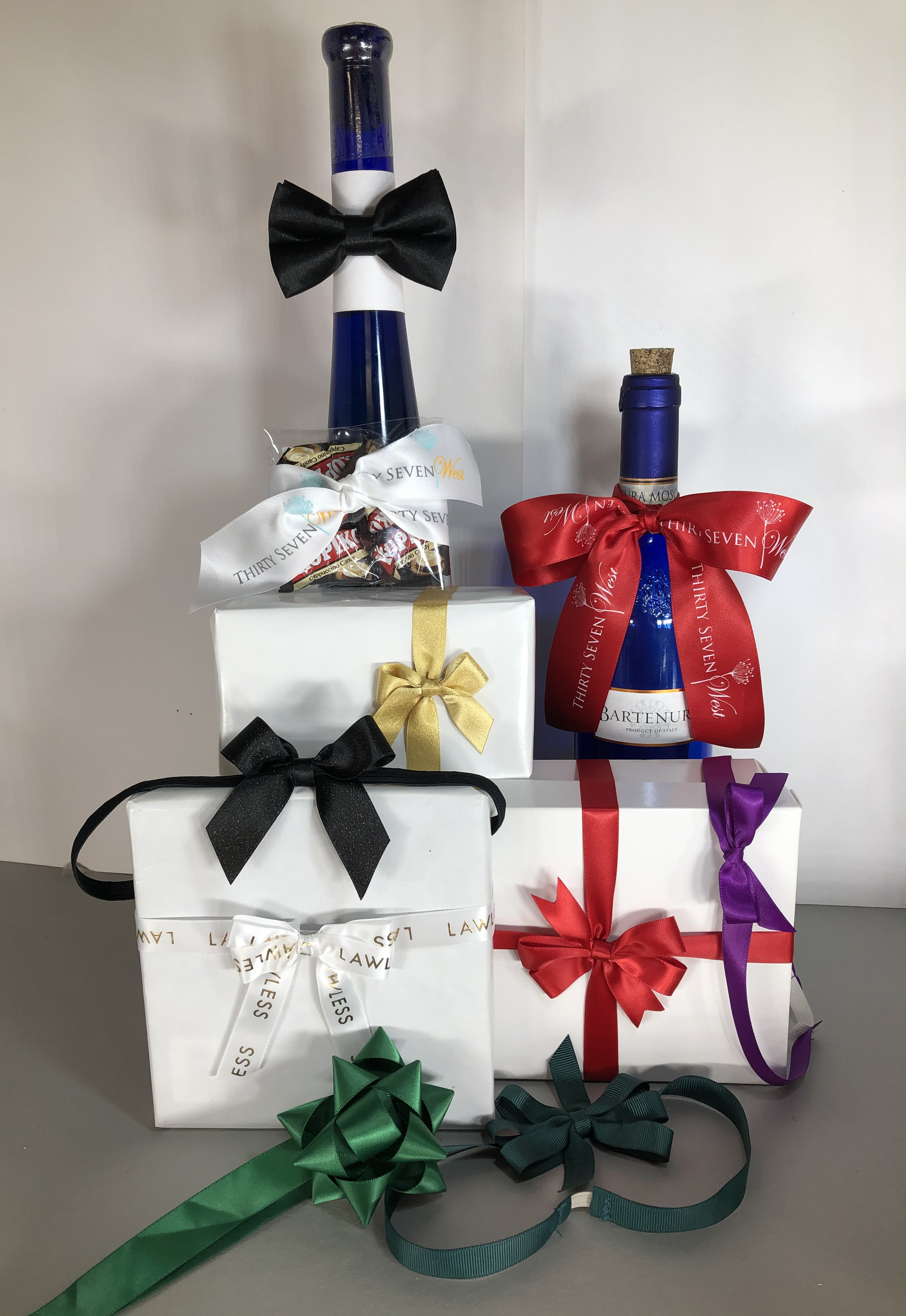 Custom Bows, Premade Bows, Custom Logo Ribbon bows, personalized ribbon Bows