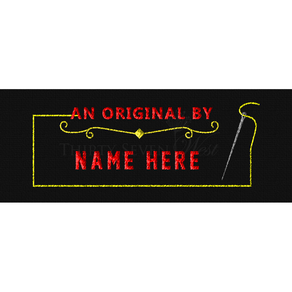 Clothing Label - An Original By with Needle