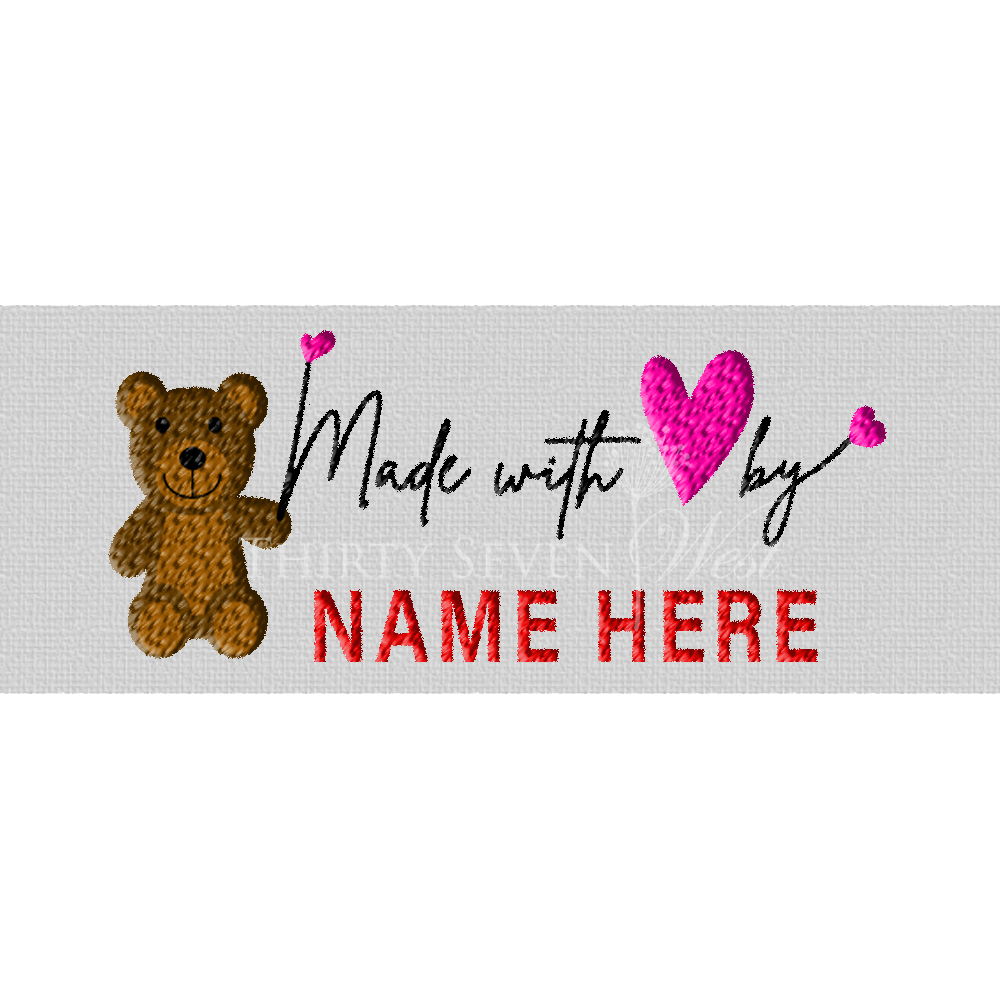 Clothing Label - Made with Love by